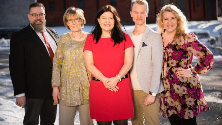 Topp fem på S-listan: Matz Keijser, Solweig Sundblad, Helena Proos, Jesper Englundh och Linda Johansson. Foto: Charlotte Rückl